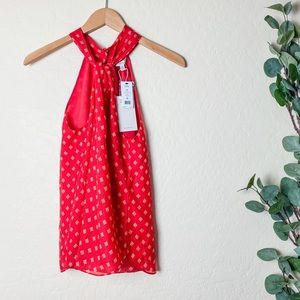 NWT Joie Lisie Blouse Red Size XS